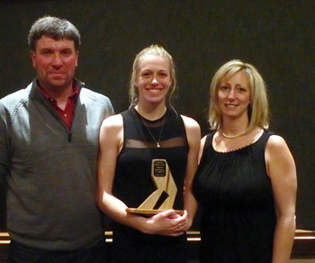 McGownes at the Prefontaine Athletic Awards Ceremony